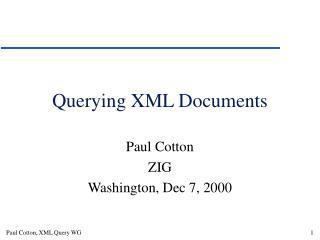 Querying XML Documents