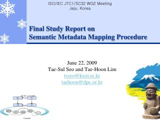Final Study Report on  Semantic Metadata Mapping Procedure