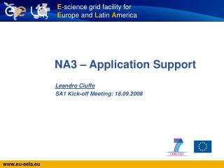 NA3 – Application Support