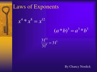 Laws of Exponents