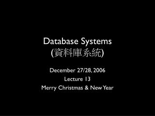 Database Systems ( ????? )