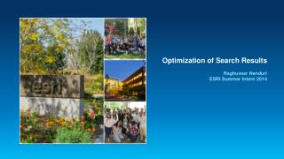 Optimization of Search Results