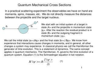 Quantum Mechanical Cross Sections