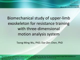 Tzong-Ming Wu, PhD; Dar-Zen Chen, PhD
