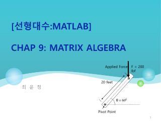 [ ???? : Matlab ] Ch ap  9:  Matrix Algebra