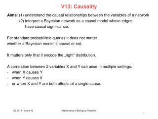 V13:  Causality