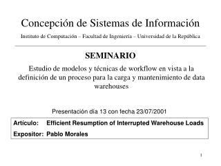 Concepción de Sistemas de Información