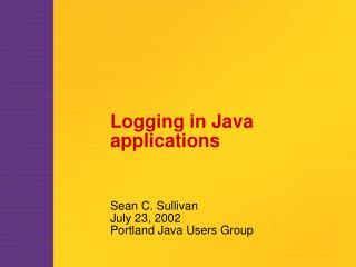 Logging in Java applications