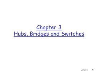 Chapter 3 Hubs, Bridges and Switches