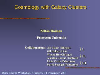 Cosmology with Galaxy Clusters