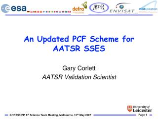 An Updated PCF Scheme for AATSR SSES