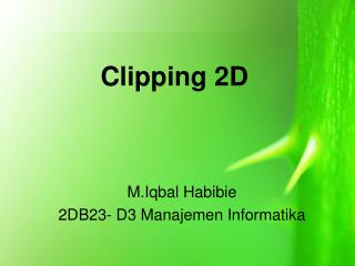 Clipping 2D