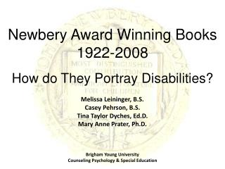 Newbery Award Winning Books  1922-2008