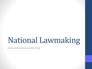 National Lawmaking