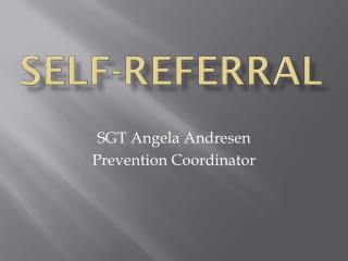 Self-Referral