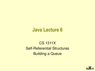 Java Lecture 6