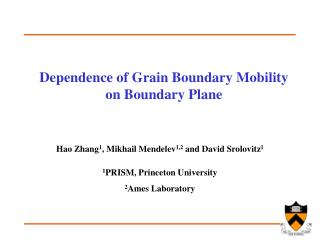 Dependence of Grain Boundary Mobility on Boundary Plane