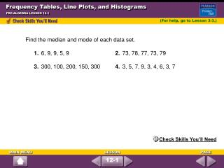 Frequency Tables, Line Plots, and Histograms