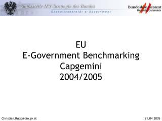 EU E-Government Benchmarking Capgemini 2004/2005