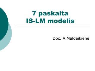 7 paskaita  IS-LM modelis