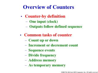 Overview of Counters