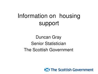 Information on  housing support