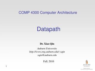 COMP 4300 Computer Architecture Datapath
