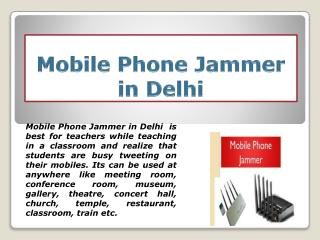 Cheap Rate Spy Mobile Phone Jammer in Delhi