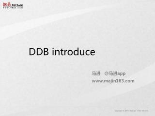 DDB introduce