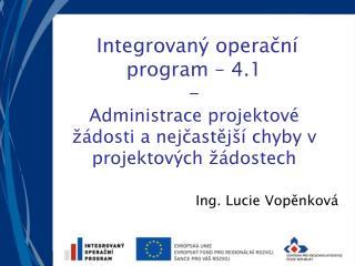 Ing. Lucie Vopěnková
