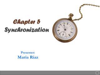 Chapter 5 Synchronization