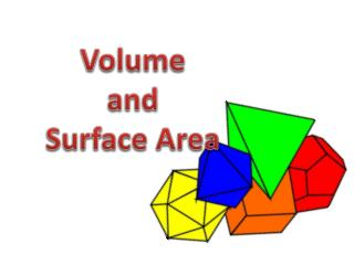Volume a nd Surface Area