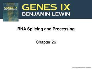 RNA Splicing and Processing