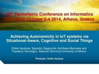 Achieving Autonomicity in IoT systems via Situational-Aware, Cognitive and Social Things