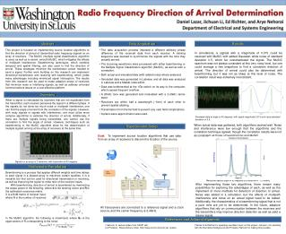 Radio Frequency Direction of Arrival Determination
