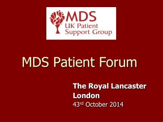 MDS Patient Forum