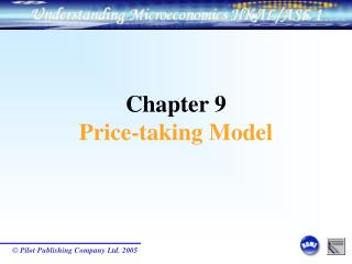 Chapter 9 Price-taking Model