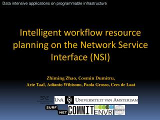 Intelligent workflow resource planning on the Network Service Interface (NSI)
