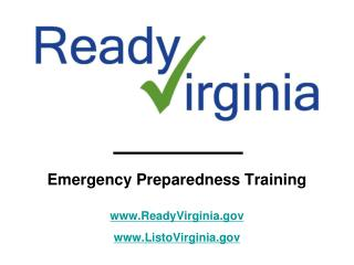Emergency Preparedness Training ReadyVirginia ListoVirginia