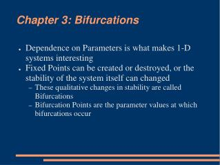 Chapter 3: Bifurcations