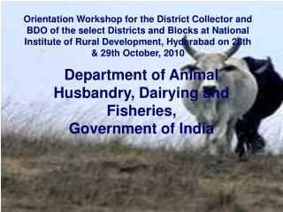 Department of Animal Husbandry, Dairying and Fisheries, Government of India
