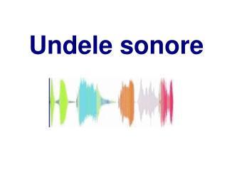 Undele sonore