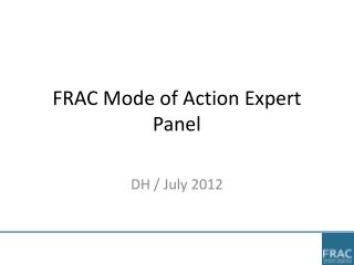 FRAC Mode of Action Expert Panel