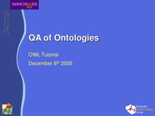 QA of Ontologies