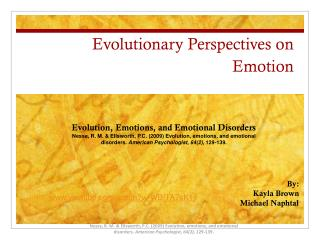 Evolutionary Perspectives on Emotion