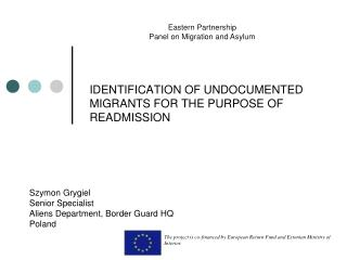 IDENTIFICATION OF UNDOCUMENTED MIGRANTS FOR THE PURPOSE OF READMISSION