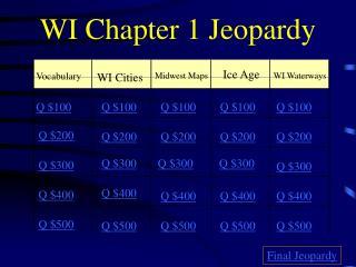 WI Chapter 1 Jeopardy