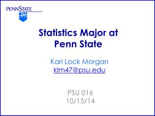 Statistics Major at Penn State