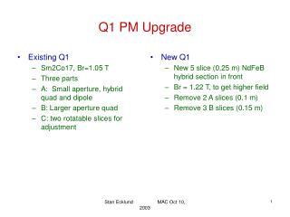 Q1 PM Upgrade