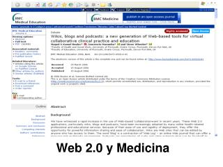 Web 2.0 y Medicina